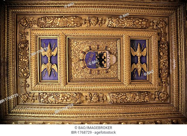 Ceiling in the Palazzo Ducale in Sabbioneta, UNESCO World Heritage Site, Lombardy, Italy, Europe