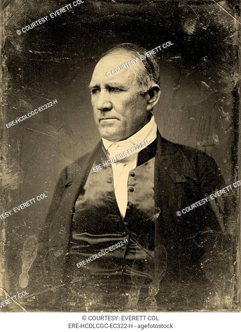 Sam Houston, Democratic Senator from Texas. half plate daguerreotype, gold toned, ca. 1848