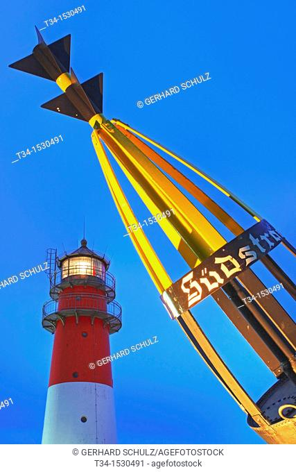 Buesum Lighthouse and Buoy, Schleswig-Hoilstein, Germany