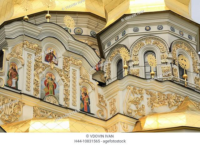 Cathedral of the Dormition, Lavra, Kiev, Ukraine, Architecture, Building, Buildings, facade, Icon, Icons, Saint, Chris