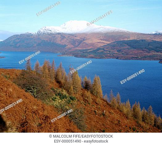 Ben Lomond and Loch Lomond. Scotland