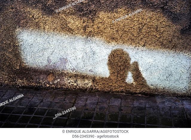 Photographer shadow, Valencia, Spain