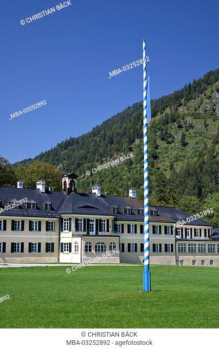 Building of the Hanns Seidel foundation in Wildbad Kreuth, Kreuth, Upper Bavaria, Bavaria, South Germany, Germany