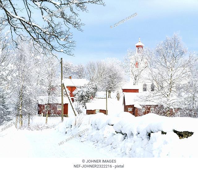 Village at winter
