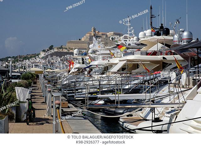 Marina Ibiza, Ibiza, Balearic Islands, Spain