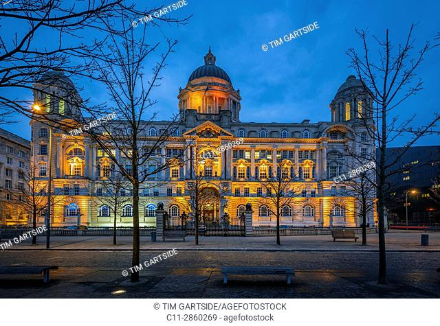 port of liverpool building,The Three Graces, Liverpool Waterfront, Pier Head, Liverpool, Merseyside, England, United Kingdom