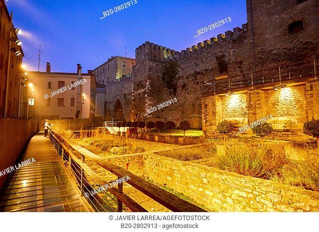 Medieval wall, Muralla Medieval, Vitoria-Gasteiz, Araba, Basque Country, Spain, Europe