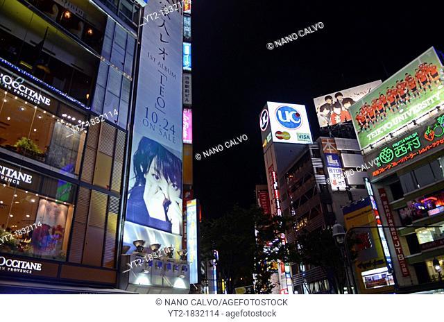 NIght view of Shibuya, Tokyo