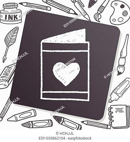 love letter doodle drawing