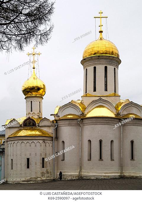 The Holy Lifegiving Trinity Cathedral. The Holy Trinity- St. Sergius Lavra. Monastery. Moscow. Russia