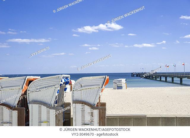South beach in Grossenbrode, Baltic Sea, Schleswig-Holstein, Germany, Europe