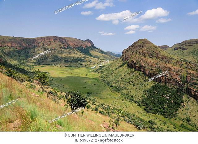 Landscape with rocks and grass in Marakele National Park, Waterberg Mountains, Limpopo Province, South Africa
