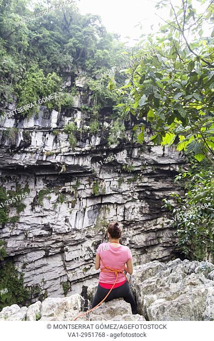 Cave of swallows. Aquismón, San Luis Potosí. Mexico