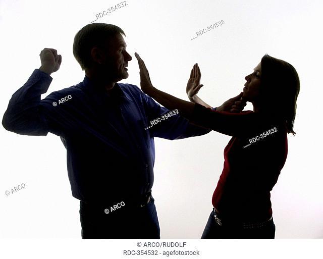 Man beating wife, brutal husband