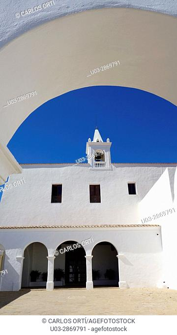 Church of Sant Miquel, a small village of the Balearic island of Ibiza. Spain, Europe