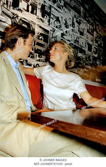 A couple in a bar, Italy