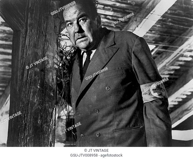 Broderick Crawford, on-set of the Film, Square of Violence, MGM, 1963