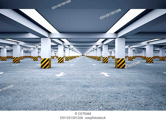 Underground parking with no cars