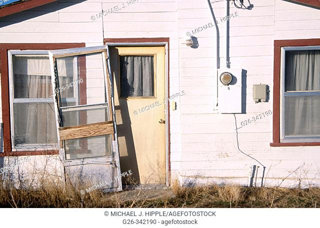 Old home on roadside. Nampa. Idaho. USA
