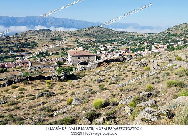 San Juan de la Nava and Sierra de Gredos on the background. Avila. Spain