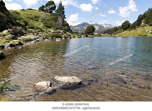 France, Hautes Pyrenees, Aragnouet, Neouvielle natural reserve, Aure valley, Bastan lake