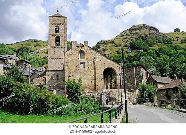 church, Durro, La Vall de Boi, valley, Spain