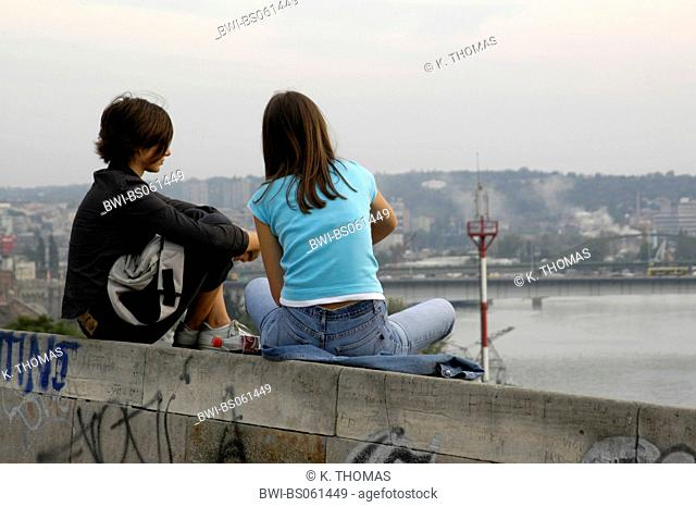 Beograd, park Kalemegdan, river Save, Serbia-Montenegro, Belgrade