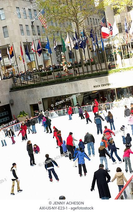 Ice skating at Rockefeller Center, NYC