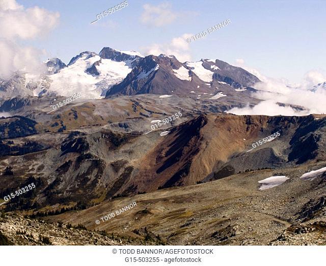 Volcanic landscape. British Columbia Coast Range near Whistler. Canada