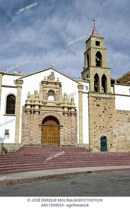 Bolivia. Oruro city. Sanctuary of the Virgin of the Socavón