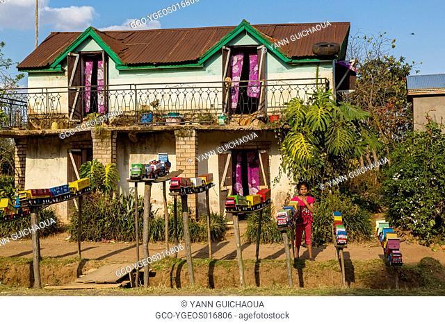 National 7,roadside store near Antsirabe,Madagascar