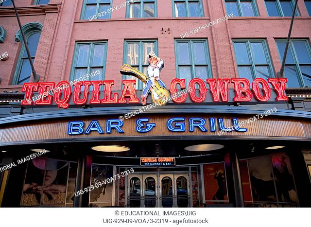 Tequila Cowboy Bar and Grill, Neon Sign, Nashville, Tennessee