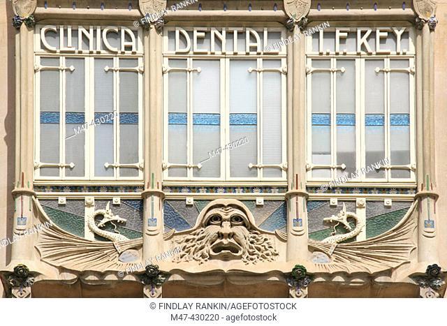Dentist's window, Palma, Majorca. Spain