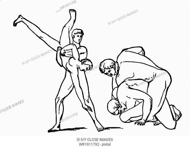 The pancratium (Greek: pancration) was a combination of boxing and wrestling in ancient Greek gymnastics. Only biting and gouging were not allowed