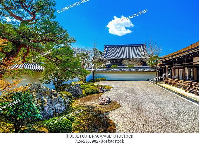 Japan, Kyoto City, Nazenji Temple, Zen Garden
