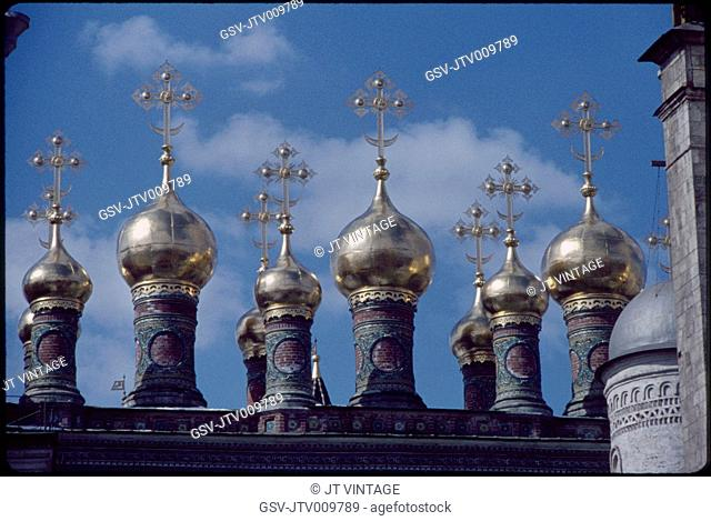 Gilded Onion Domes, Kremlin, Moscow, U.S.S.R., 1958