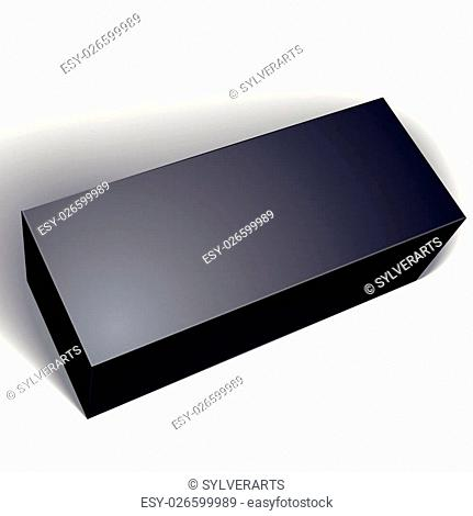 Vector blank black box isolated on white background, template for your package design, put your image over the pack, illustration eps 8