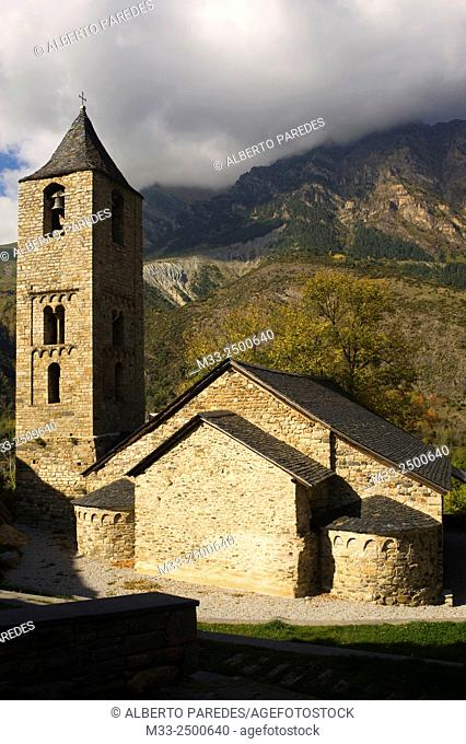 Sant Joan de Boi romanesque church. Vall de Boi, Lleida province, Catalonia, Spain