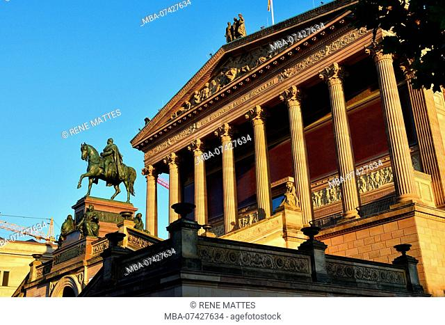 Germany, Berlin, Berlin-Mitte district, Museum Island, listed as World Heritage by UNESCO, the museum of the former National Gallery (Alte Nationalgalerie)