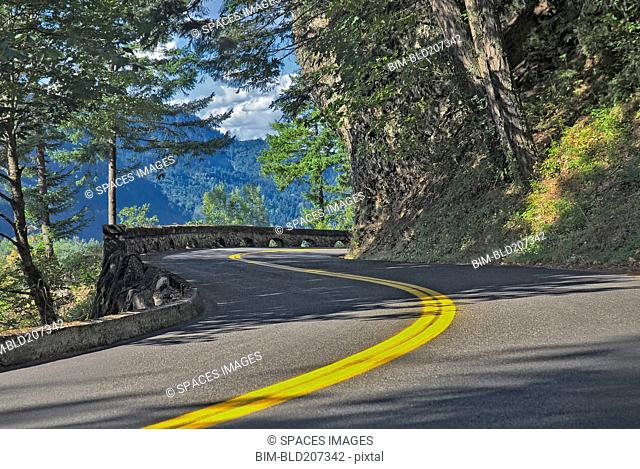Section of Columbia River Gorge Historic Highway