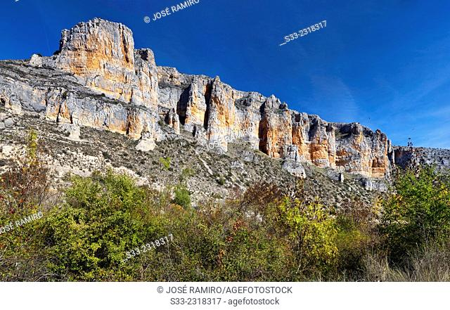Clifss in the Riaza Canyon Natural Park. Segovia. Castilla Leon. Spain. Europe