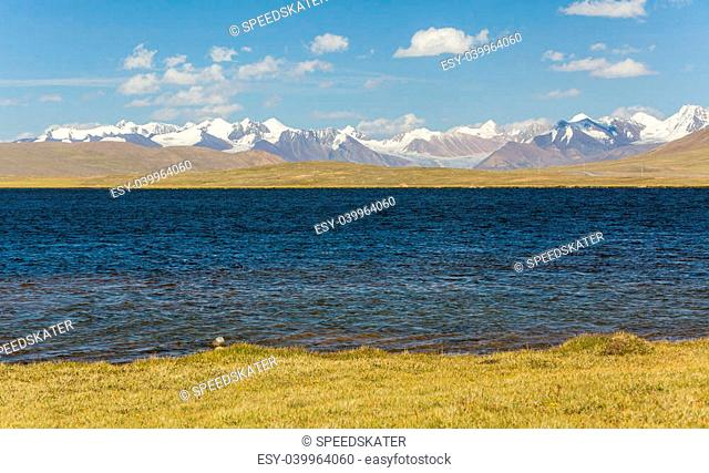 Alpine lake in TIen Shan mountains, Kyrgyzstan
