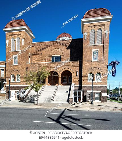 The 16th Street Baptist Church in Birmingham, Alabama It was bombed on Sunday, September 15, 1963 as an act of racially motivated terrorism  The explosion at...