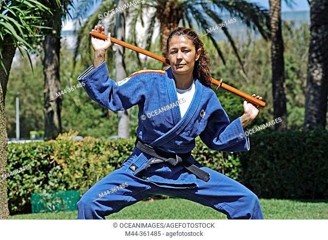 Almudena López, judo Spain champion