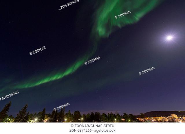 Nordlicht, Aurora borealis (englisch: Northern lights), Gaellivare, Norrbotten, Lappland, Schweden, November 2013