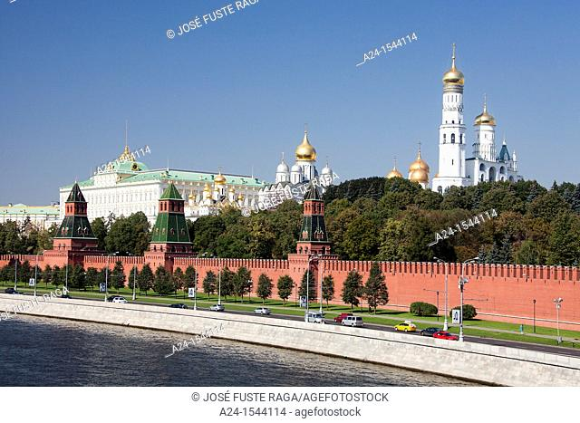 Rusia , Moscow City, The Kremlin, South Walls ,Moscow river, Ivan the Great Belfry