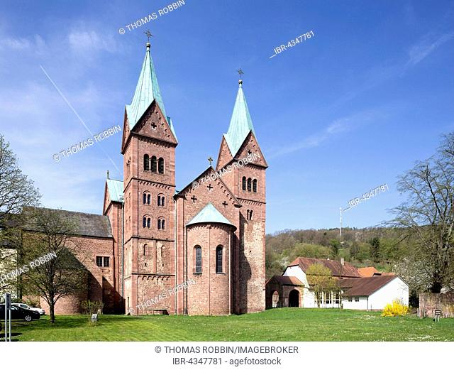 Former Benedictine abbey, Church of St. Michael and St. Gertrud, Neustadt am Main, Lower Franconia, Bavaria, Germany