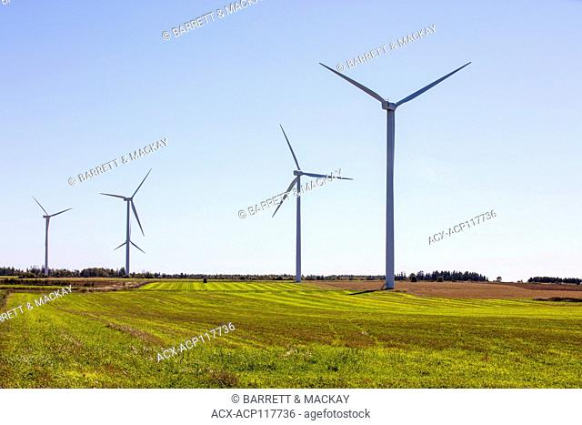 Wind turbines, West Cape, Prince Edward Island, Canada