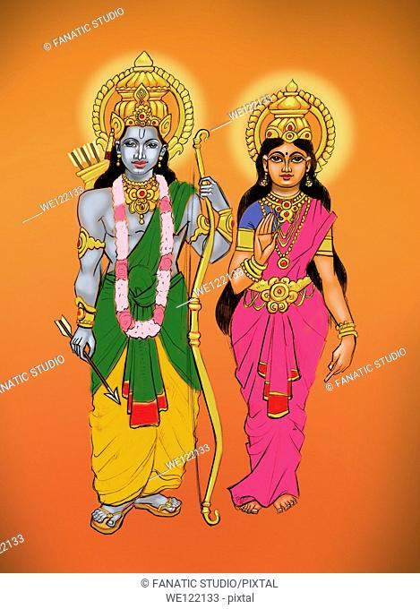 Lord Rama with goddess Sita