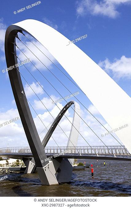 The Elizabeth Quay Pedestrian Bridge, Perth, Australia